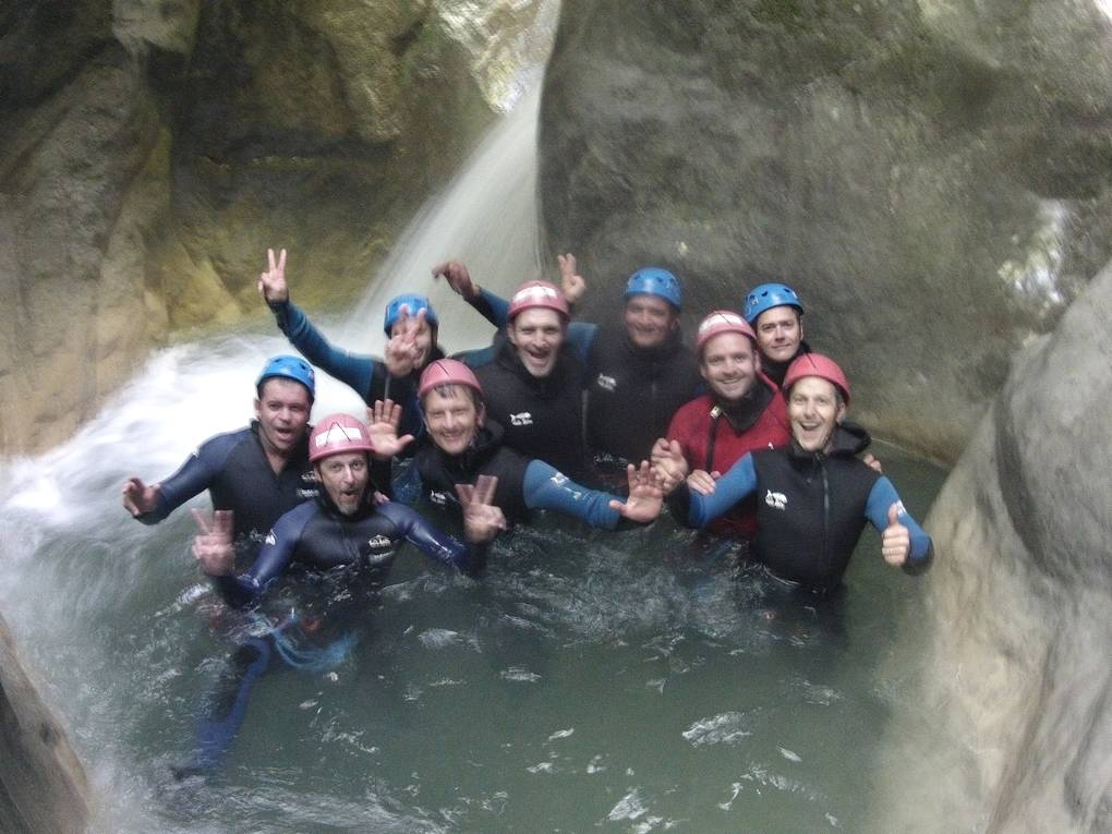photo canyoning reposoir annecy haute savoie. Black Bedroom Furniture Sets. Home Design Ideas