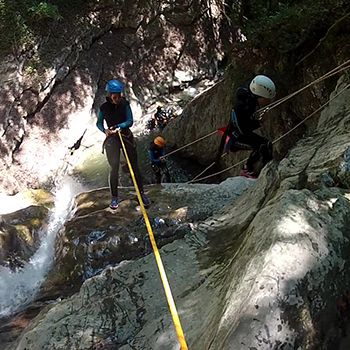 Canyoning perfectionnement montmin