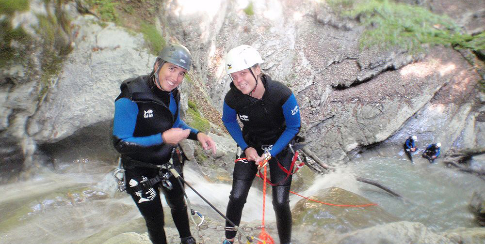 stage ecole canyoning annecy